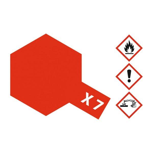 Tamiya 81007 Farbe X-7 Rot glänzend 23ml
