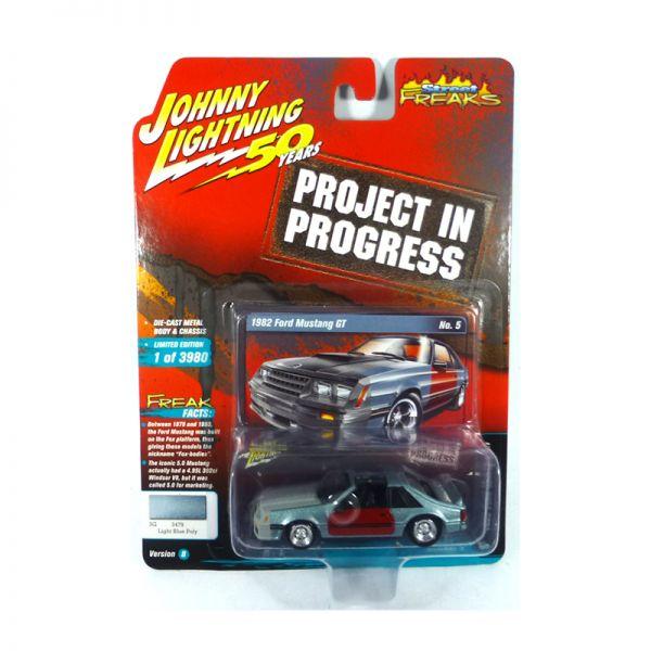 Johnny Lightning JLSF014-B5 Ford Mustang GT eisblau - Project in Progress Maßstab 1:64