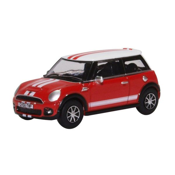 Oxford 230241 Mini Cooper rot/weiss Maßstab 1:76