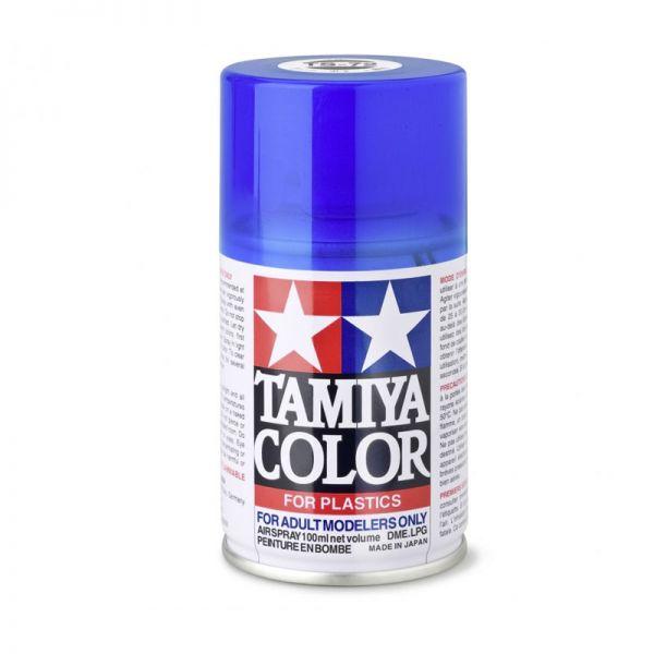 Tamiya 85072 Farbe TS-72 Blau Transparent/Klar glänzend 100ml Spray