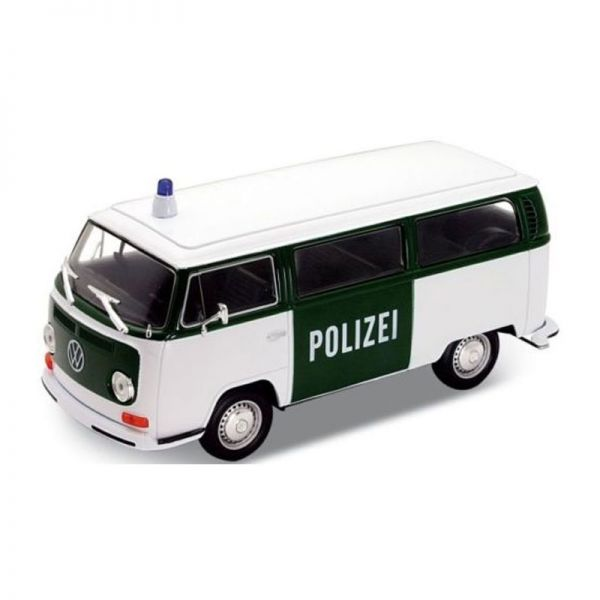 "Welly 22472 VW T2 Bus ""Polizei"" grün/weiss 1972 Maßstab 1:24 Modellauto"