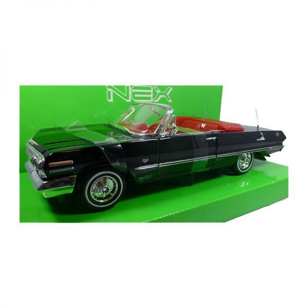 Welly 22434 Chevrolet Impala Convertible schwarz Maßstab 1:24 Modellauto