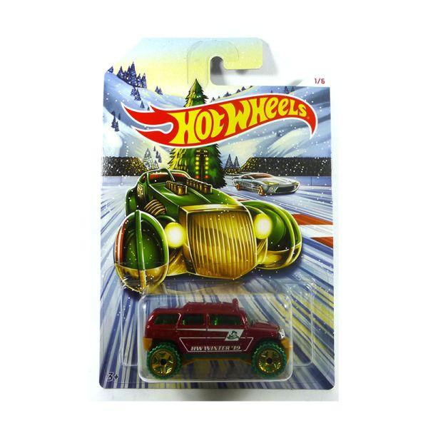 Hot Wheels W3099-61 Rockster rot - Winter Serie Maßstab 1:64