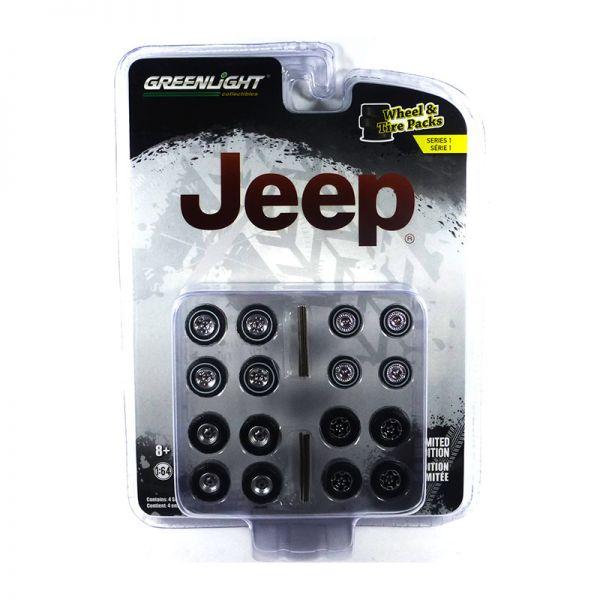 "Greenlight 16010-C Reifenset ""Jeep"" - Wheel & Tires Pack"