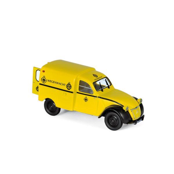 """Norev 151413 Citroen 2CV AZU """"Wegenwacht"""" gelb 1959 Maßstab 1:43"""