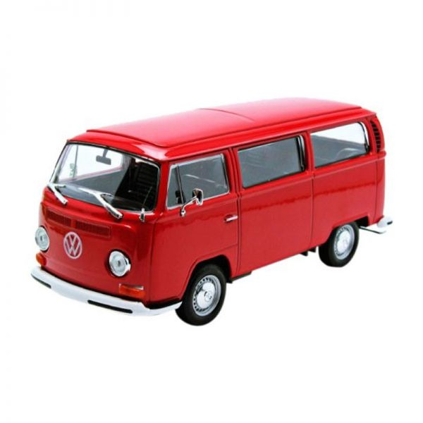 Welly 22472 VW T2 Bus rot 1972 Maßstab 1:24 Modellauto