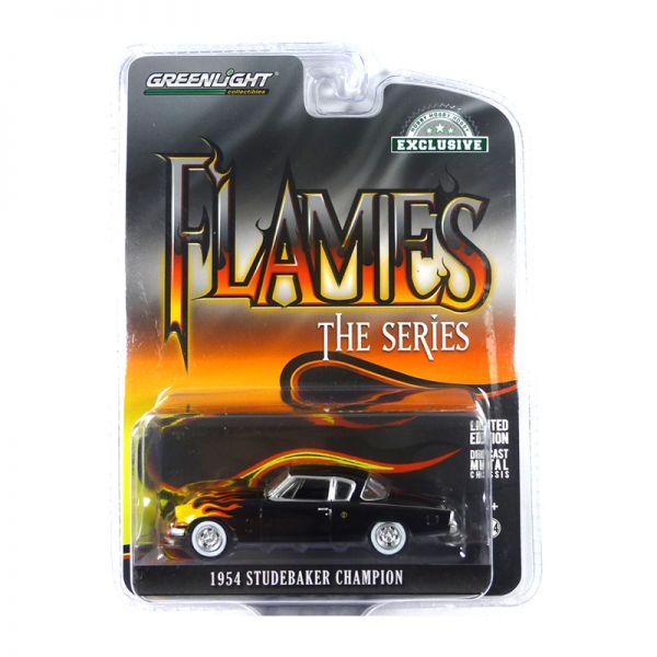 Greenlight 30116 Studebaker Champion schwarz - Flames the Series Maßstab 1:64