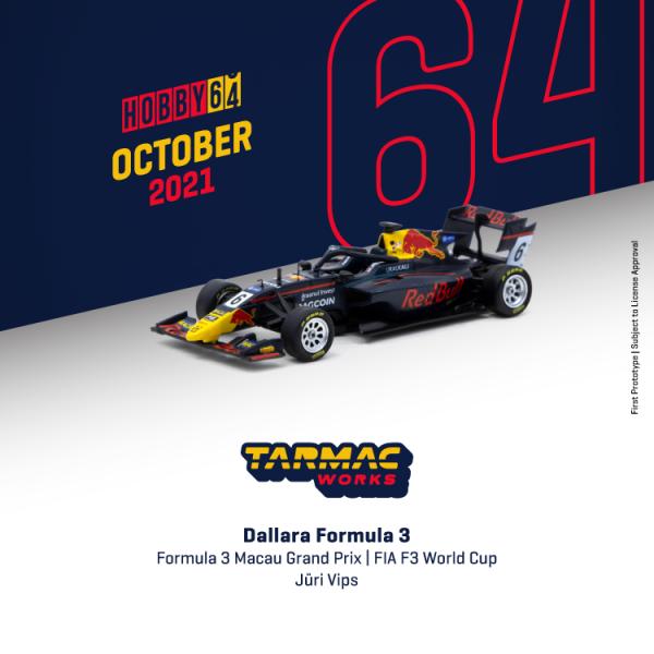Vororder Tarmac T64-069-19MGP06 Dallara Formula 3 FIA F3 World Cup 2019 Red Bull Maßstab 1:64
